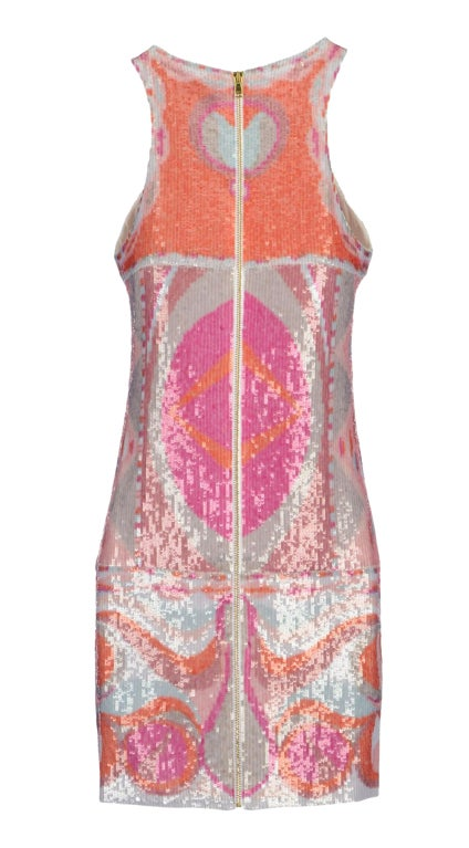 NEW EMILIO PUCCI SEQUINED SILK DRESS 2