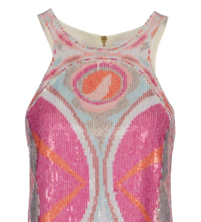 NEW EMILIO PUCCI SEQUINED SILK DRESS 3