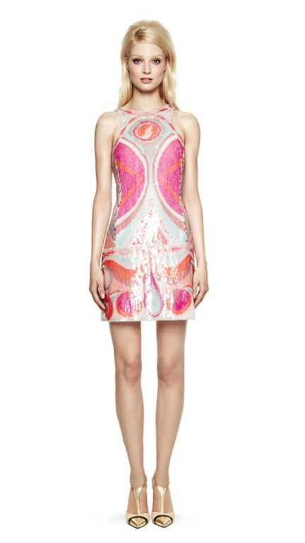 NEW EMILIO PUCCI SEQUINED SILK DRESS 4
