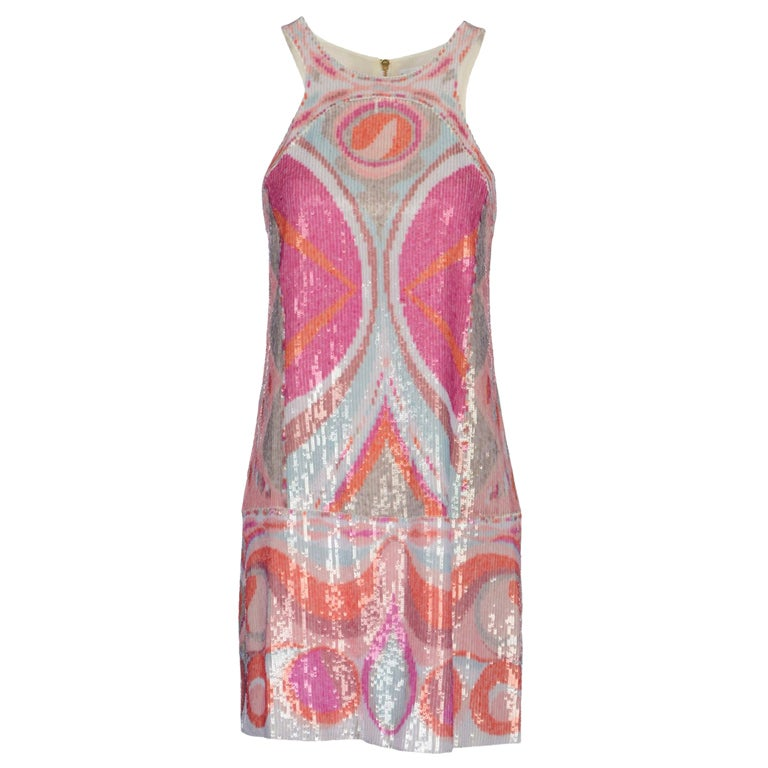 NEW EMILIO PUCCI SEQUINED SILK DRESS 1