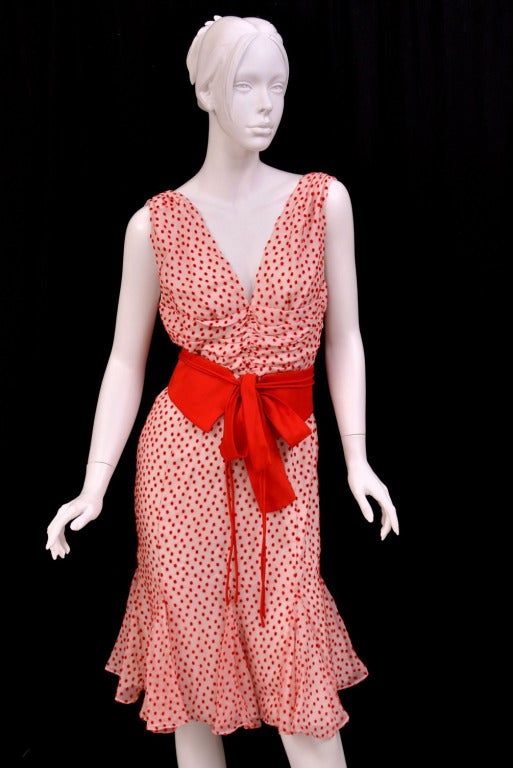 TOM FORD POLKA DOT DRESS WITH BOW DETAIL 2