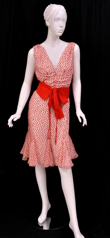 TOM FORD POLKA DOT DRESS WITH BOW DETAIL 3