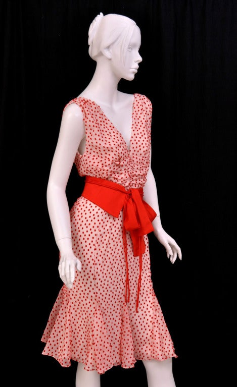 TOM FORD POLKA DOT DRESS WITH BOW DETAIL 4