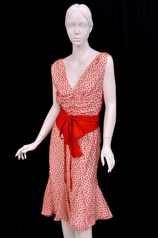 TOM FORD POLKA DOT DRESS WITH BOW DETAIL 5