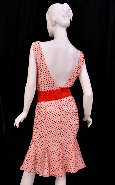 TOM FORD POLKA DOT DRESS WITH BOW DETAIL 6