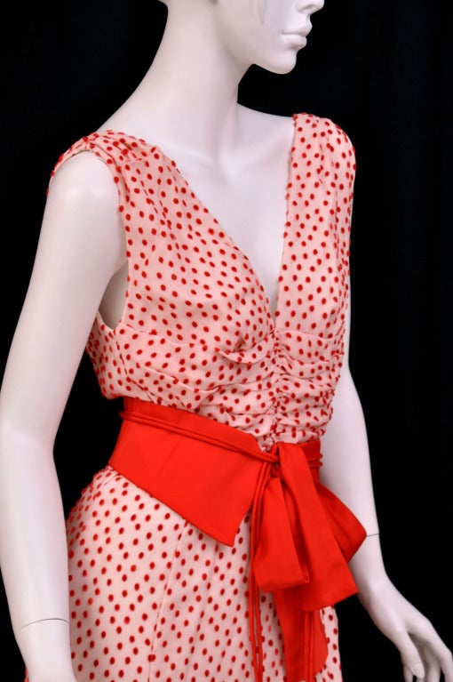 TOM FORD POLKA DOT DRESS WITH BOW DETAIL 7