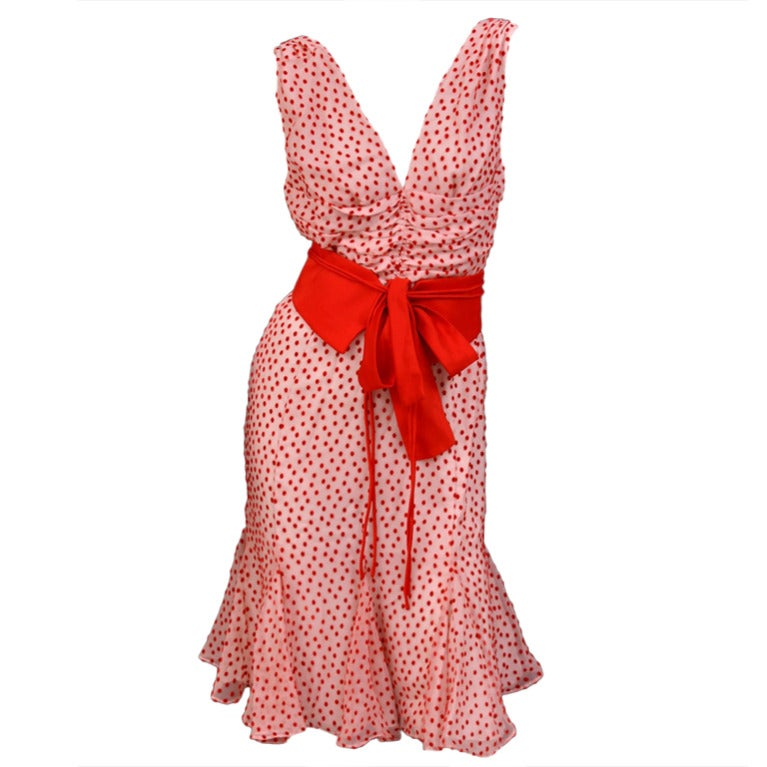 TOM FORD POLKA DOT DRESS WITH BOW DETAIL 1