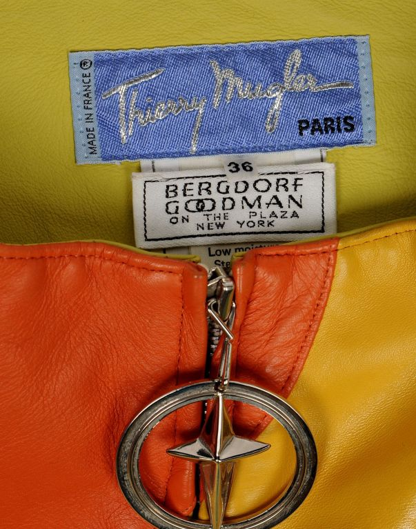 S/S 1990 Thierry Mugler Iconic Leather Rainbow Jacket image 3