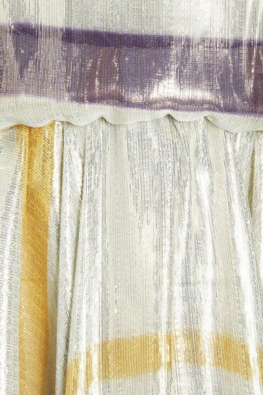 $8,340 New LANVIN Striped silk-blend lame gown 4