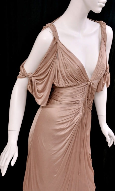 Women's S/S 2003 COLLECTIBLE TOM FORD for GUCCI NUDE KIMONO DRESS For Sale