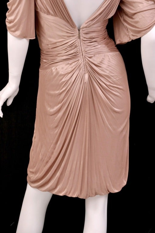 S/S 2003 COLLECTIBLE TOM FORD for GUCCI NUDE KIMONO DRESS For Sale 2