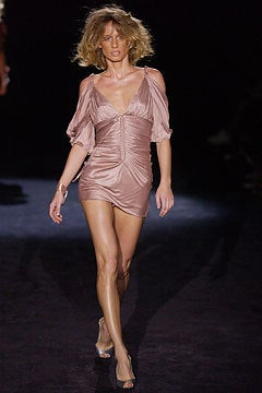 S/S 2003 COLLECTIBLE TOM FORD for GUCCI NUDE KIMONO DRESS For Sale 4