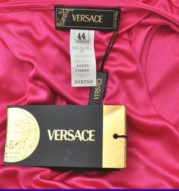 VERSACE STRETCH JERSEY WARP DRESS MADONNA WORE for THE GRAMMY'S For Sale 1
