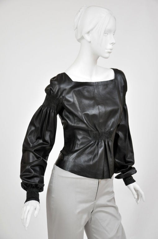 A/W 99 Tom Ford for Gucci Black Leather Top 2