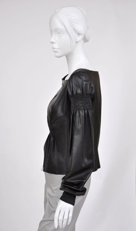 A/W 99 Tom Ford for Gucci Black Leather Top 4