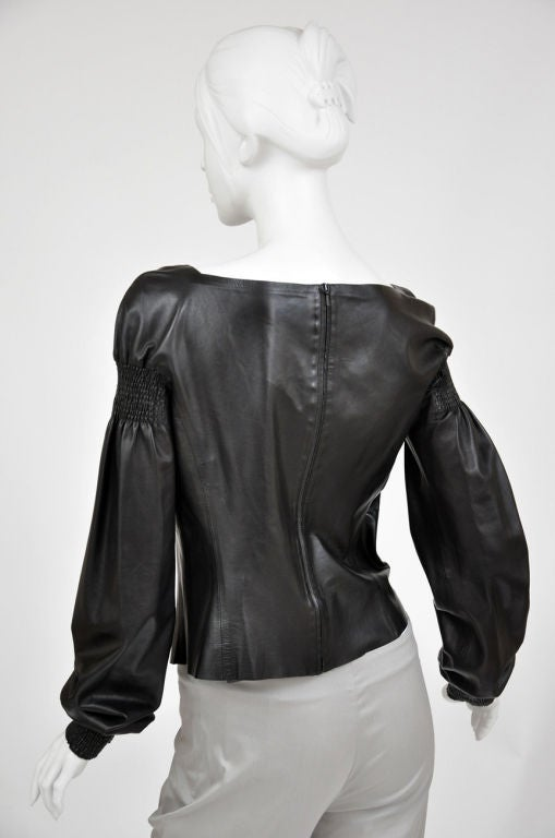A/W 99 Tom Ford for Gucci Black Leather Top 5