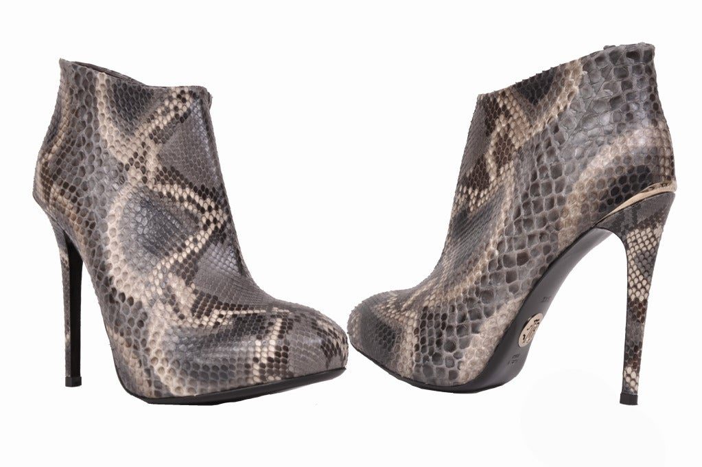 Roberto Cavalli python ankle boots  Hidden platform  Brand new  Sizes:  37.5, 38.5