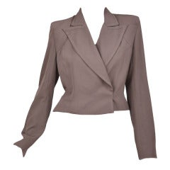 S/S 2003 Look 1 Tom Ford for Yves Saint Laurent Stretch-Faille Jacket