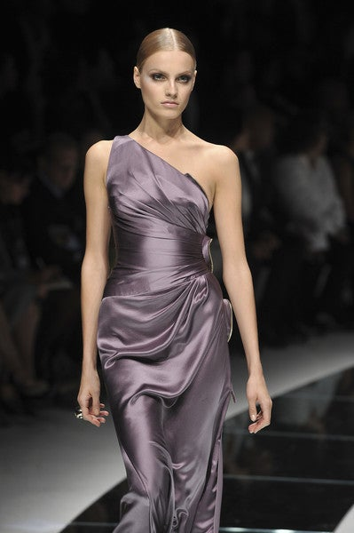 New Versace One Shoulder Gown With Hearts For Sale 5