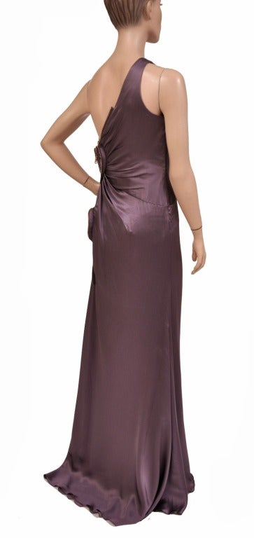 New Versace One Shoulder Gown With Hearts For Sale 1