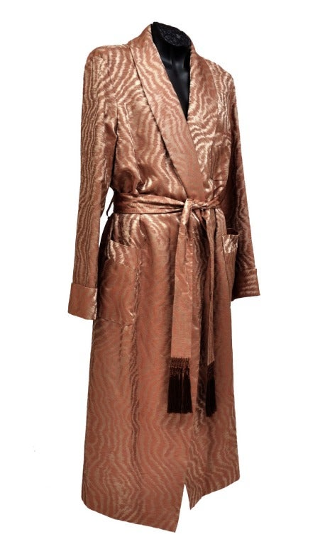 Tom Ford Silk Robe 100% silk Fully lined Long sleeves Two pockets Tasseled  belt Cuffs cc297becd5d2