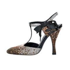 Tom Ford for Yves Saint Laurent Rhinestone Spectator Shoes 36