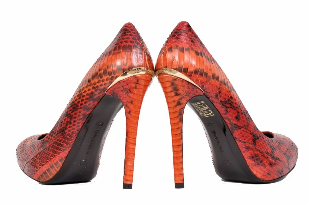 cd1db66f4f Roberto Cavalli Snakeskin Hidden Platform Pumps In New Condition For Sale In  Montgomery, TX