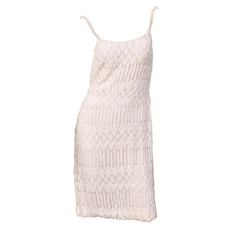 Gianni Versace Couture Pearl Embellished White Dress 1