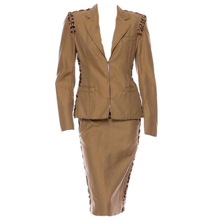 S/S 2002 Tom Ford for Yves Saint Laurent Safari Suit