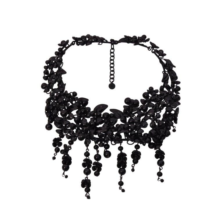 Tom Ford Black Pate De Verre Necklace 1
