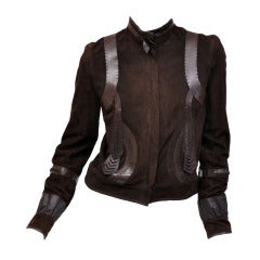 Fendi Embellished Leather Jacket