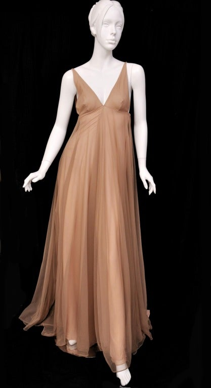 Iconic F/W 1998 Tom Ford for Gucci Fairy Tale Dress A classic evening choice that will never let you down, this Gucci dress by Tom Ford is a wardrobe staple. A romantic choice engineered in Italy with dreamy, nude tulle for ladylike elegance. First