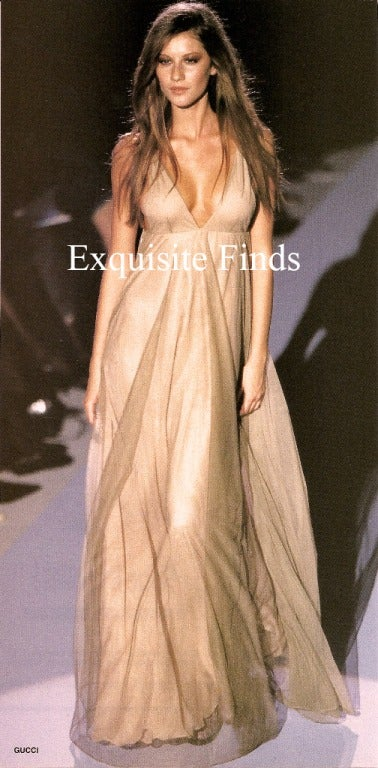 Brown Tom Ford for Gucci Fairy Tale Dress, F / W 1998 For Sale