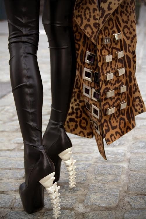 Dsquared2 Thigh High Black Leather Boots 3
