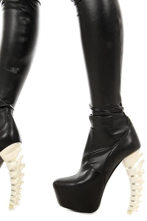 Dsquared2 Thigh High Black Leather Boots 5