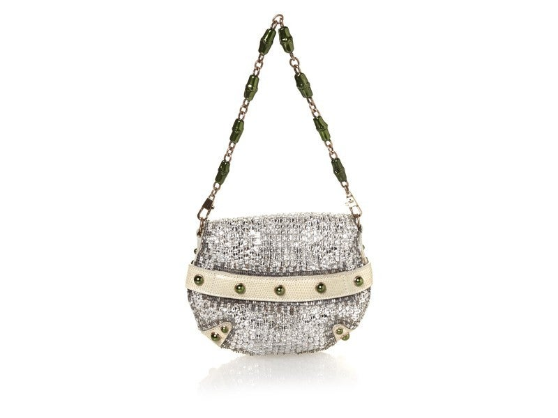 2004 Vintage Rare Tom Ford For Gucci Crystal Clutch from the ad campaign In Excellent Condition For Sale In Montgomery, TX