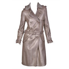 New Versace Shearling Trench Coat