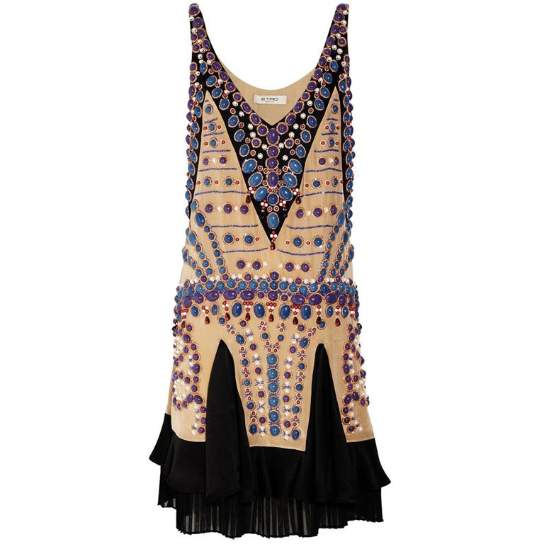 Etro Hand-Embellished Silk Dress 1