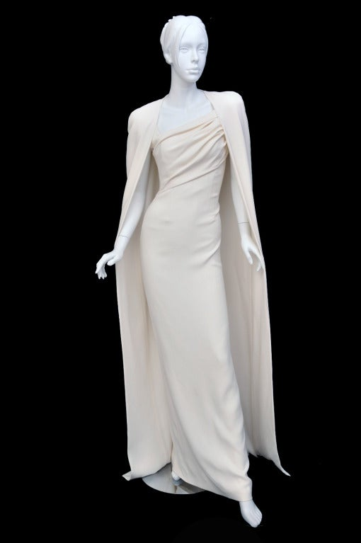 New Tom Ford Iconic White Dress with Cape Gwyneth wore to the Oscars! 3