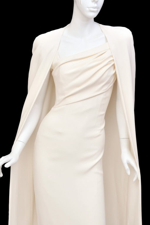 New Tom Ford Iconic White Dress with Cape Gwyneth wore to the Oscars! 4