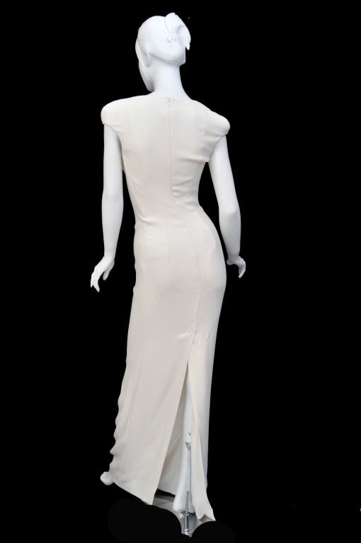 New Tom Ford Iconic White Dress with Cape Gwyneth wore to the Oscars! 8