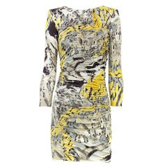 New EMILIO PUCCI Multicolored printed silk-jersey mini dress