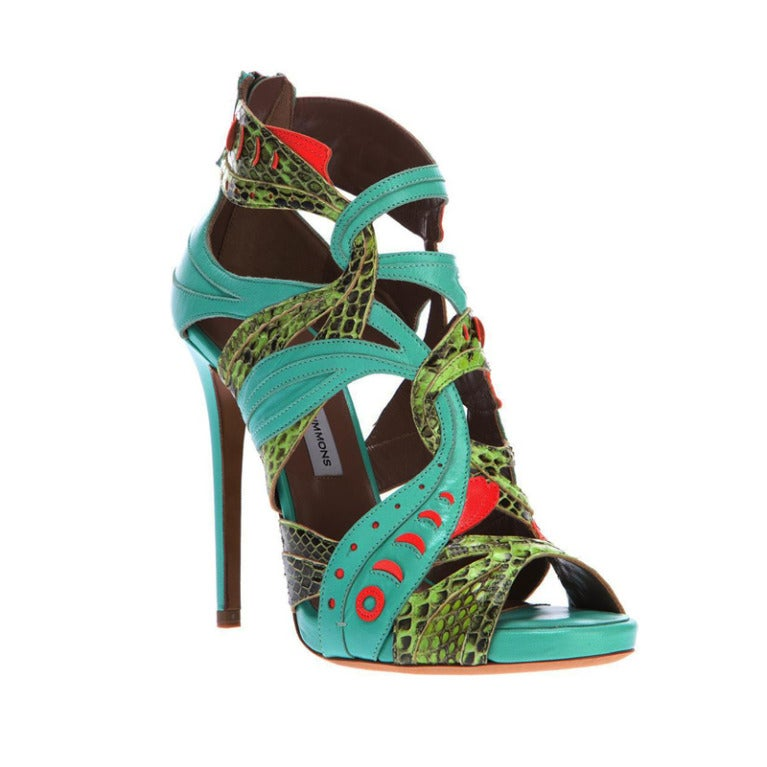 New TABITHA SIMMONS EXOTIC SHOES 37 1
