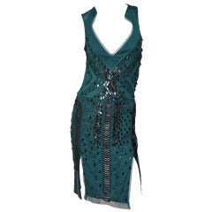 S/S 2005 GUCCI CRYSTAL EMBELLISHED DRESS new with tags