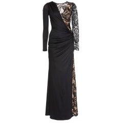 Emilio Pucci Black Lace Gown