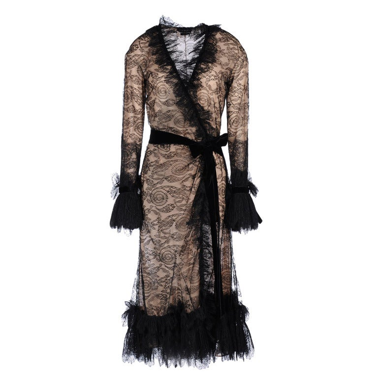New Tom Ford Black Lace Dress For Sale