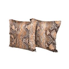 ROBERTO CAVALLI SNAKE PRINT SILK PILLOWS