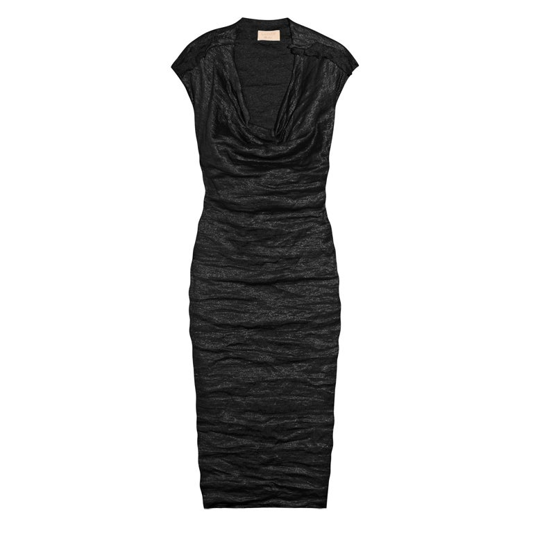 MOST WANTED LANVIN BLACK METALLIC DRESS at 1stdibs
