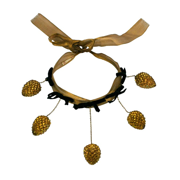Schiaparelli Haute Couture Pine Cone Necklace, Jean Schlumberger For Sale