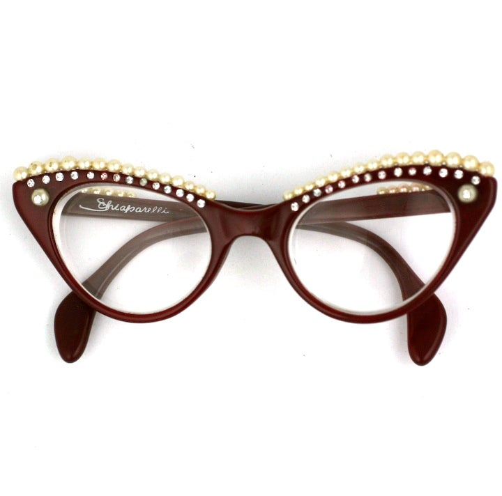 House of Schiaparelli Surreal Pearl Eyebrow Glasses 2